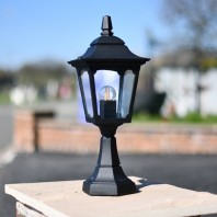 """Moorside"" Traditional Black Entrance Pillar Lantern"