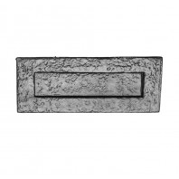 """8"""" Traditional Black Iron Simplistic Door Letter Plate"""