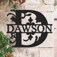 Traditional Personalised Monogram House Name Sign - Letter D