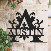 Traditional Personalised Monogram House Name Sign - Letter A