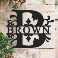 Traditional Personalised Monogram House Name Sign - Letter B