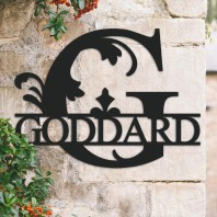 Traditional Personalised Monogram House Name Sign - Letter G