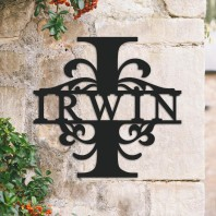 Traditional Personalised Monogram House Name Sign - Letter I