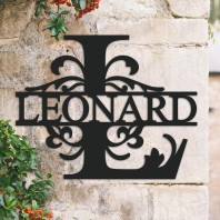 Traditional Personalised Monogram House Name Sign - Letter L