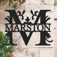 Traditional Personalised Monogram House Name Sign - Letter M