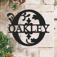 Traditional Personalised Monogram House Name Sign - Letter O