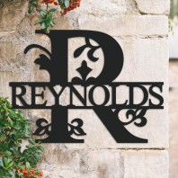 Traditional Personalised Monogram House Name Sign - Letter R
