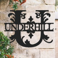 Traditional Personalised Monogram House Name Sign - Letter U