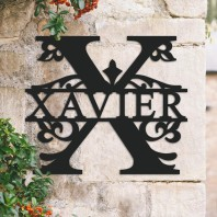 Traditional Personalised Monogram House Name Sign - Letter X