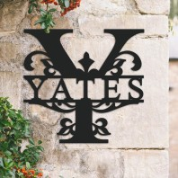 Traditional Personalised Monogram House Name Sign - Letter Y