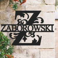 Traditional Personalised Monogram House Name Sign - Letter Z