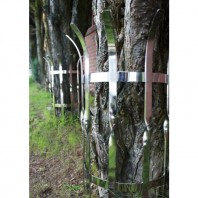 """Kratos"" contemporary stainless steel tree guards"