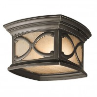 """Glynthorn"" Trellis Design Flush Mount Ceiling Light"