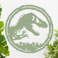 T-Rex Circular Wall Art - Sage Green