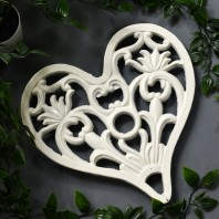 Trivet - Heavy Duty V3 Heart - Cream