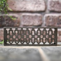 "Antique Cast Iron Air Brick - 9"" x 3"""