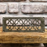 "Natural Iron 'Star' 9"" x 3.25"" Air Vent Cover"