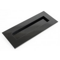 Small Cast Brass Traditional Letter Plate- Black