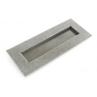 Small Cast Brass Traditional Letter Plate- Pewter