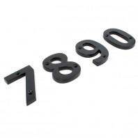 Black Iron House Numerals - 3""