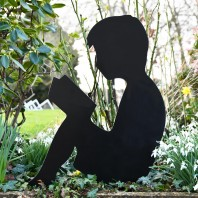 Boy Reading Silhouette