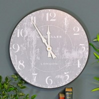 Shabby Chic Grey Wall Clock