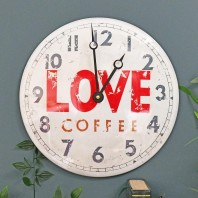 """Central Perk"" Love Coffee Vintage Wall Clock"