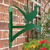 Green Pheasant Iron Hanging Basket Bracket