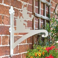 Cream Chimney Iron Sweep Hanging Basket Bracket