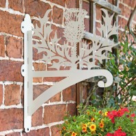 Cream Thistle Iron Hanging Basket Bracket