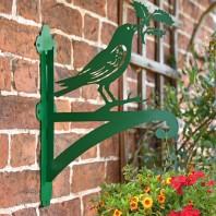 Green Raven Holding Holly Iron Hanging Basket Bracket