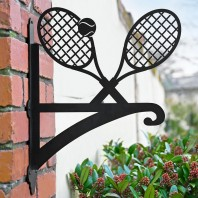 Tennis Racket Iron Hanging Basket Bracket