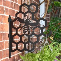 Honeycomb Bee Iron Hanging Basket Bracket