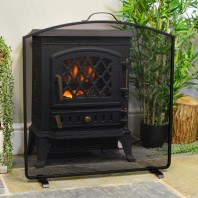 """Arched"" Black Fire Screen - 61cm"