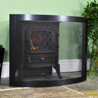 """Carrowdrock"" Contemporary Curved Bespoke Fire Guard"
