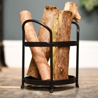 Large Round Kindling Holder