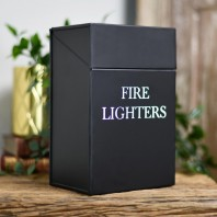Black Fire Lighters Box