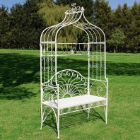 """Christiana"" Cream Arbour Garden Bench"