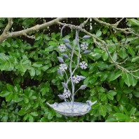 """Bodrhyddan Hall"" Rustic Bird Bath or Bird Feeder with a Climbing Flower Design"