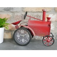 Rustic red Vintage Tractor Clock