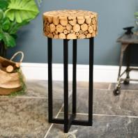 Log Design Side Table