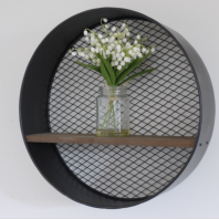 Industrial Circle Shelf