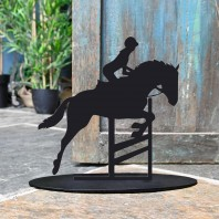 Showjumping Horse Iron Door Stop