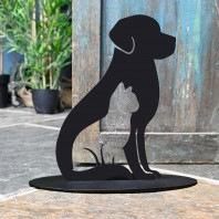Cat & Dog Iron Door Stop