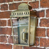 """Stoke Heath"" Antique Brass Georgian Manor Simplistic Brass Wall Light"