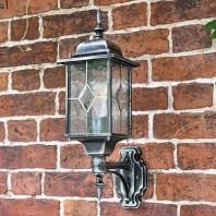 """""""Marsden"""" Silver Wall Lantern"""