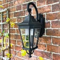 """Bramford Bank"" Black Two Light Ornate Wall Lantern"