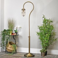 """""""Easthill Brook"""" Industrial Caged Floor Lamp"""