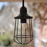 """Braysson Marine"" Dark Bronze Nautical Caged Ceiling Light"