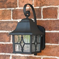 """Alford"" Traditional Black Wall Lantern"